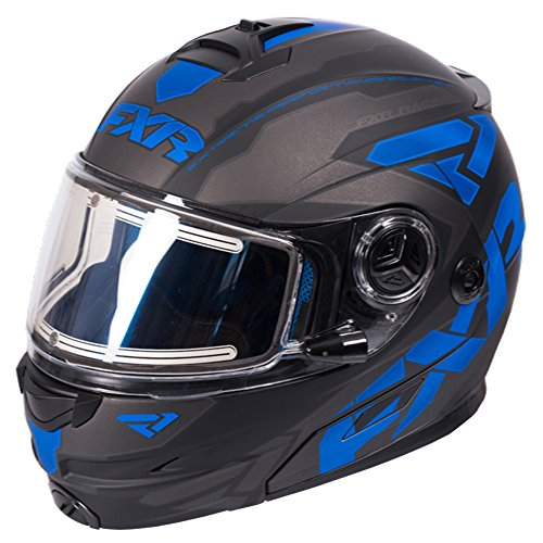 FXR Fuel Modular Elite Helmet W/Electric Shield Polycarbonate Alloy Snowmobile - Black/Blue/Char -...