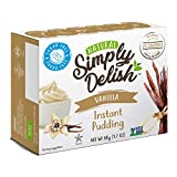 Simply Delish Sugar-Free Pudding Mix and Pie Filling - Vanilla Flavor - 48 gr - Vegan, Gluten Free, Non-GMO, Lactose Free, Halal - Keto Friendly Pudding - Made With Natural Ingredients