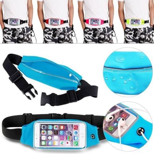 Theoutlettablet® Gürtel Bauchtasche Sport Running Reflektierendes – Laufen – Schweiß Wasserdicht und mit Tasche für Smartphon