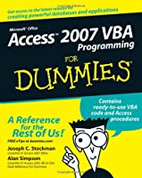 Access 2007 VBA Programming For Dummies Front Cover