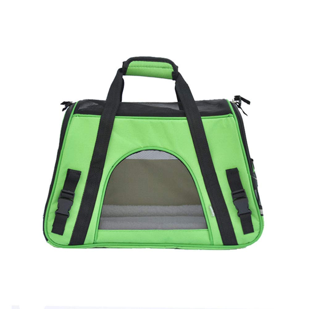 Green Pet Carrier for Small Dogs, Cats, Puppies, Kittens, Pets, Collapsible, Travel Friendly, Cozy and Soft Dog Bed, Carry Your Pet with You Safely and Comfortably,Green