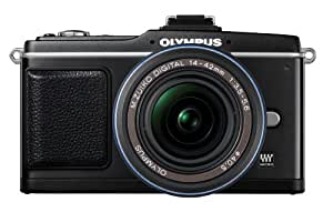 Olympus PEN E-P2 12.3 MP Micro Four Thirds Mirrorless Digital Camera with 14-42mm f/3.5-5.6 Zuiko Digital Zoom Lens and Electronic View Finder