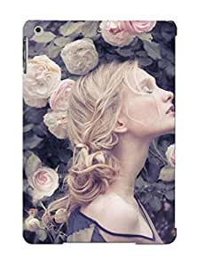 New Style QueenVictory Woman In The Roses Premium Tpu Cover Case For Ipad Air