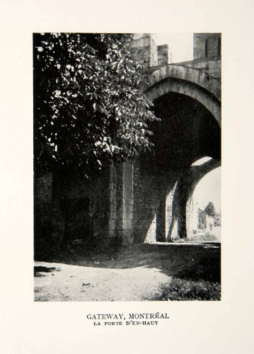1927 Print France Montreal La Cluse Porte Den Haut Gateway Archway Entrance Art - Original Halftone (Archway Poster Print)