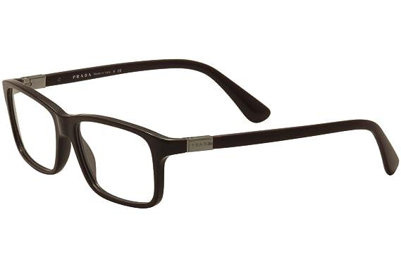 Prada PR06SV Eyeglass Frames USF1O1-54 - Brown PR06SV-USF1O1-54 at ...