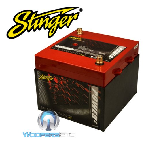Stinger SPP2250 2250 Amp SPP Series Dry Cell Battery with Protective Steel Case - Battery Car Audio Stinger