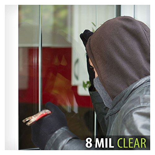 BDF S8MC Window Film Security and Safety Clear 8 Mil (30in X 49ft) by Buydecorativefilm (Image #3)