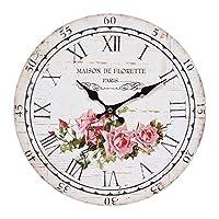 Orologio da parete da cucina Roses Vintage Shabby Chic Ø28 cm Ambiente rustico Clock for Wall