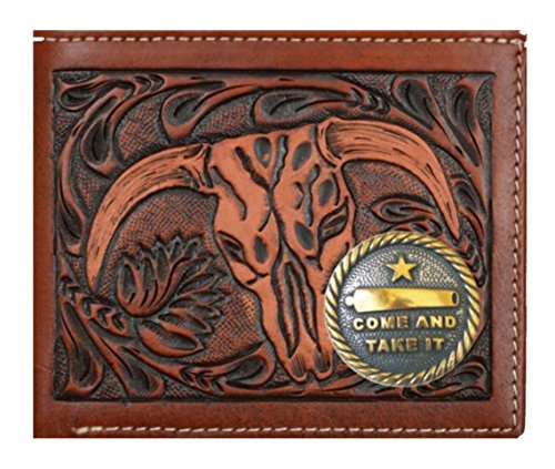 Skull Cow Company Brown Cow Belt Wallet Belt 3D It Take New Skull 3D New Wallet Custom Company Come Short and And Long Custom Tan wq1TW