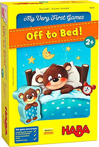 HABA My Very First Games - Off to Bed! The Game That Makes Toddler Bedtime Routines Fun - Ages 2+
