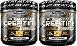 MuscleTech Platinum Creatine Monohydrate Powder, 100% Pure Micronized Creatine Powder, 14.1oz (80 Servings) 2-Pack