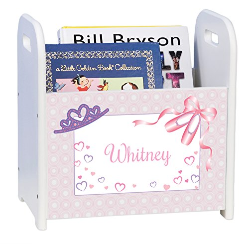 Personalized Ballet Princess White Book Caddy and Rack by MyBambino