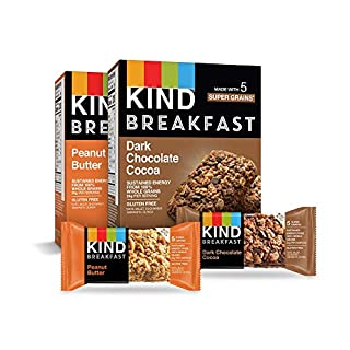 KIND Breakfast Bars Variety Pack, Dark Chocolate Protein & Peanut Butter, Gluten Free, 1.8oz, 16 Count