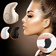GPOWER® Newest Smallest Wireless Invisible Bluetooth Mini Earphones Earbuds Headsets Headphones Support Hands-free Calling for Iphone Samsung Motorola Sony Lenovo HTC Lg and Most Smartphone S530 (Khaki)