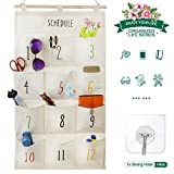 Hanging Storage Bag with 12 pockets Wall Door Fabric art Closet bags for managing your home& working. All-match style wall & door hanging bag for orgaining your Small objects