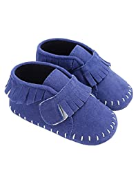 Baby Girls Suede Tassel Moccasins Loafer Flats Newborn Soft Sole Crib Shoes