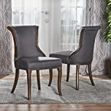 Lexia Classic Dark Charcoal Fabric Dining Chair