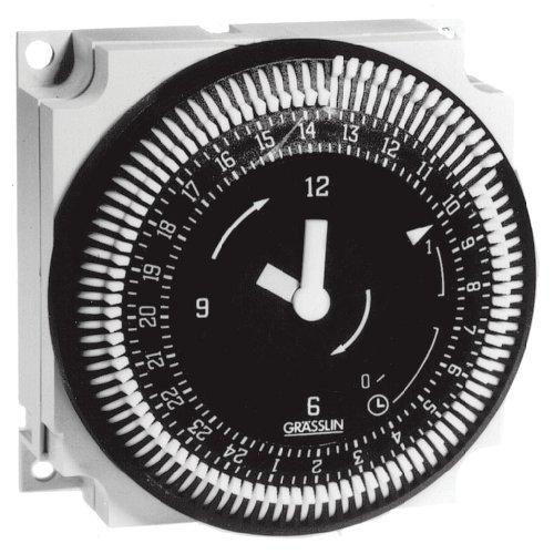 Grasslin by Intermatic FM1STUZ-240U 24-Hour 21A, SPDT, 240V Electromechanical Timer Module -