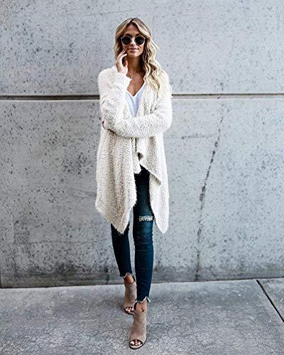 Manches Cardigan Blanc Irrégulier Large Surdimensionnée M Zhrui Manteau Longues Veste Taille En Femme Blanc Molleton Plaine Couleur qO5wBIXwy