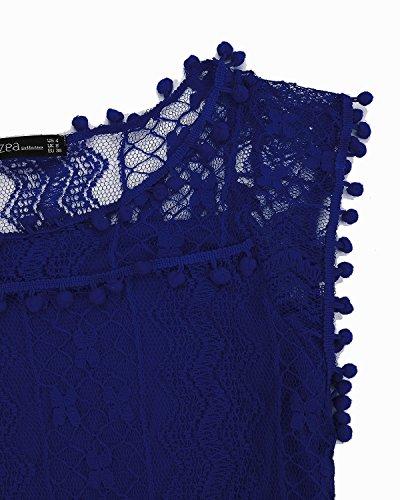 para ZANZEA Vestido Mujer Azul1 ZANZEAQuqe7921 XqqROSwg