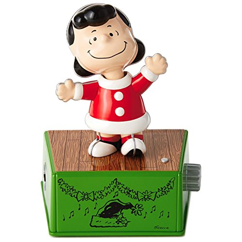 Peanuts Lucy Christmas Dance Party Figurine With Music and Motion