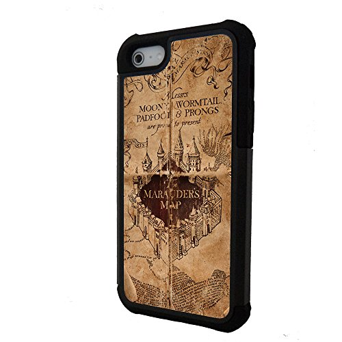 Harry Potter inspired Marauder's map High Quality iPhone 6 plus case with extra protection - 2 piece rubber lining iPhone 6 plus (5.5 inch) case by caseOrama