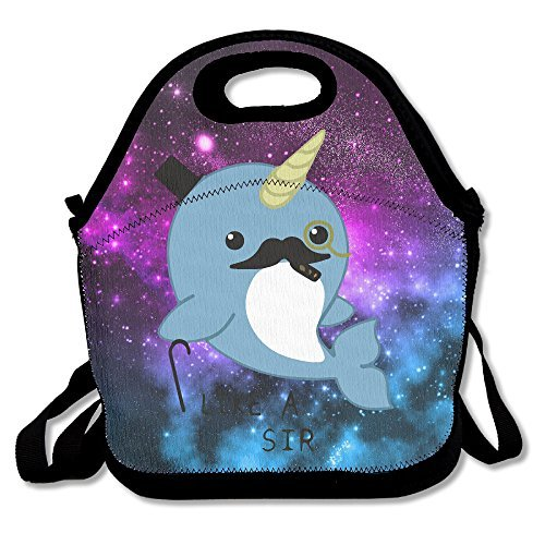 Fancy Narwhal Lunch Bags Lunch Tote Lunch Box Handbag For Kids And Adults (Beaver Bag Lunch)