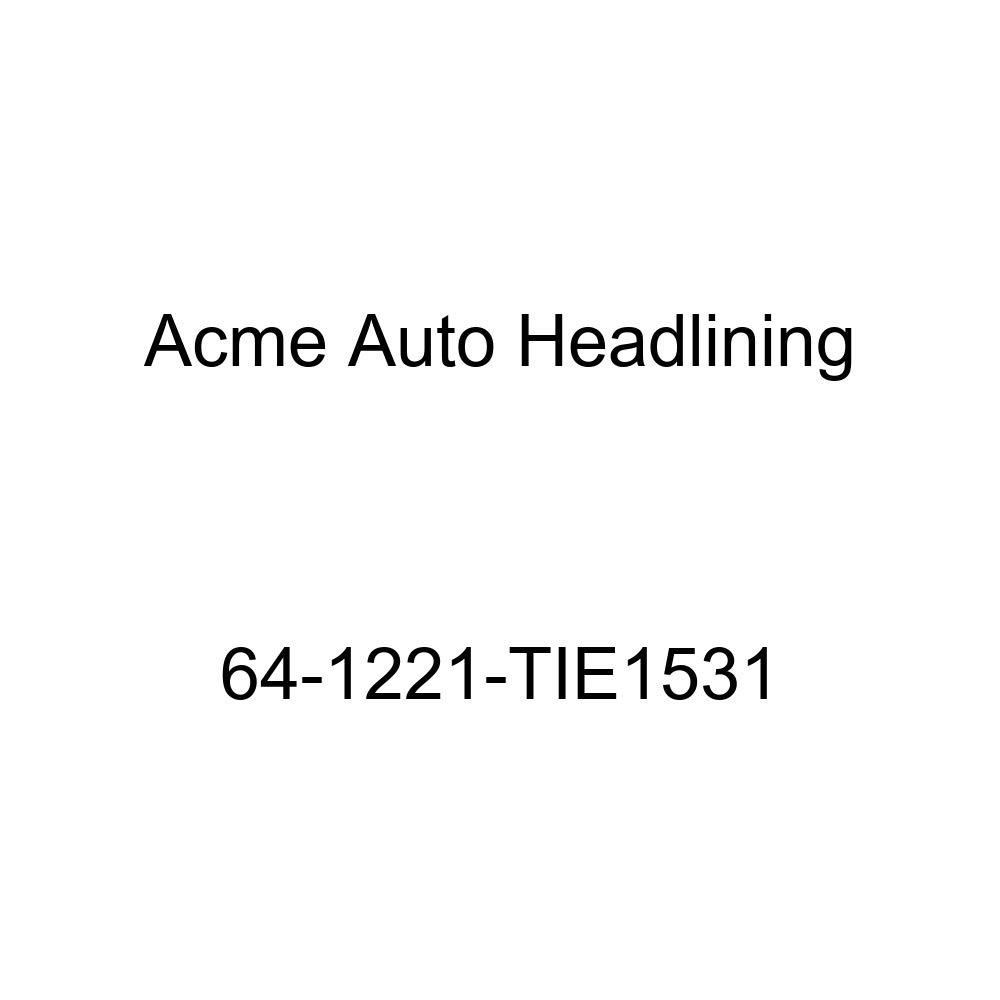 Oldsmobile Cutlass /& F85 2 Door Coupe 5 Bows Acme Auto Headlining 64-1221-TIE1531 Chamois Replacement Headliner