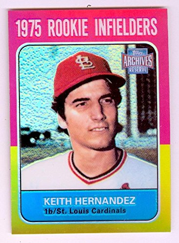 Keith Hernandez baseball card (St Louis Cardinals NL MVP World Series) 2001 Topps Archives Reserve #31 Refractor 2001 World Series Mvp