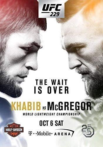 UFC 229 Khabib Nurmagomedov vs Conor McGregor PHOTO Print POSTER Las Vegas 2018