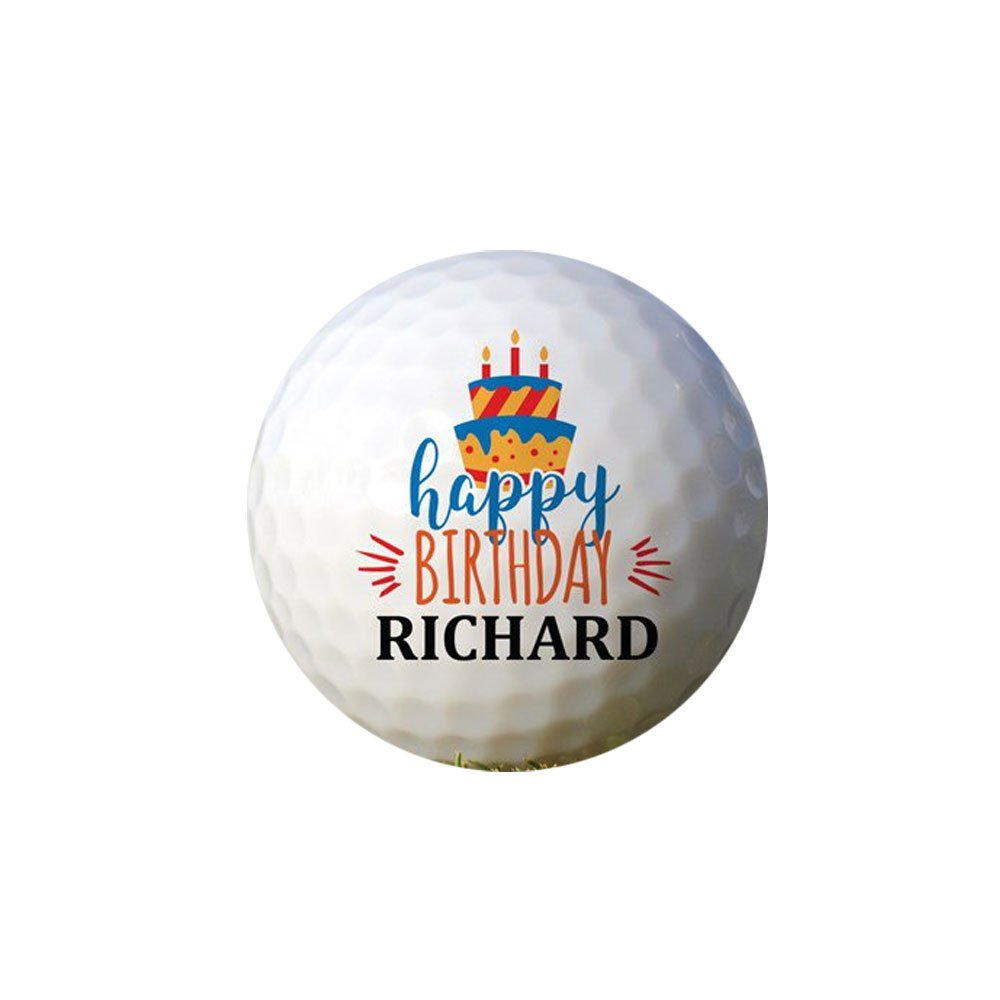 GiftsForYouNow Happy Birthday Cake Personalized Golf Ball Set by GiftsForYouNow