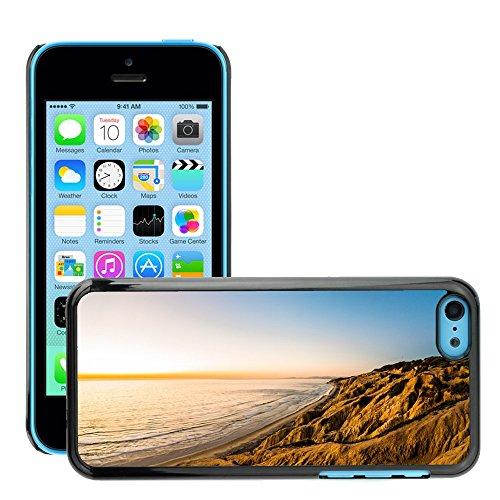 Stampato Modelli Hard plastica Custodie indietro Case Cover pelle protettiva Per // M00421555 Côte Shore Hills Montagnes Cliffs // Apple iPhone 5C