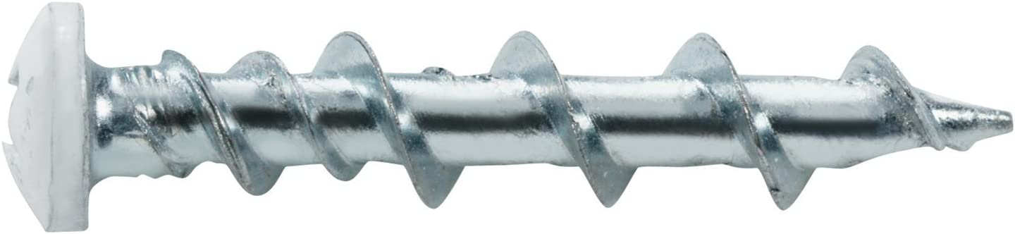 2 Packs of 20 White The Hillman Group 42007 3//16-Inch by 1-1//4-Inch WallDog Pan Head Phillip Screw