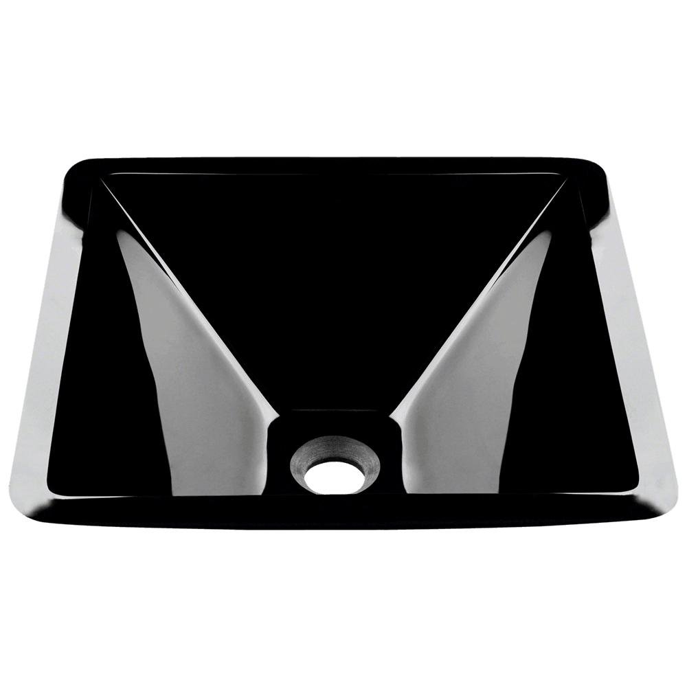 603 Black Coloured Glass Vessel Sink