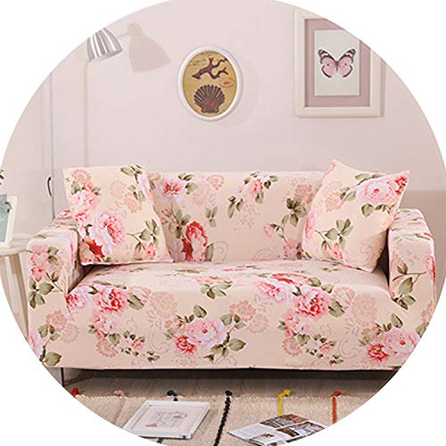 Gooding life Leaves Slipcover Sofa Cover Tightly All-Inclusive Wrap Single/Double/Three/Four-Seat Sofa Cover Elasticity Sofa Cover 1pc,8,Two seat Sofa ()