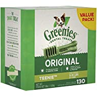 GREENIES Original TEENIE Natural Dental Dog Treats, 36 oz. Pack (130 Treats)