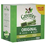 GREENIES Original TEENIE Dental Dog Treats, 36 oz. Pack (130 Treats), Makes a Great Holiday Dog Gift