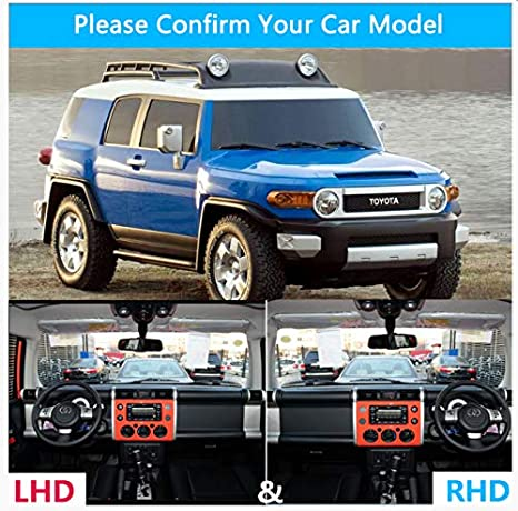 linfei Dashboard Cover Protective Pad For Toyota Fj Cruiser 2006~2018 Gsj10 Sunshade Carpet Dashmat Anti-Uv Mat Lhd All Black