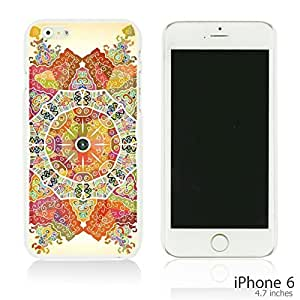 OnlineBestDigital - National Paintings Hardback Case for Apple iPhone 6 (4.7 inch)Smartphone - Mandala Motif Round Lase Pattern