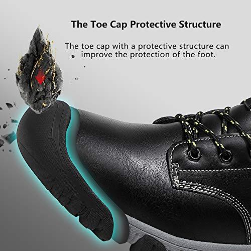 AX BOXING Bottes Homme Hiver Bottines Randonnée Trekking Chaudes Fourrées Chaussures Taille 41-46 5