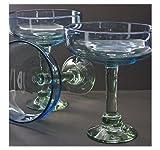 Wilton Armetale BelloVaso Azuro 7-Ounce Margarita Glass, Free-Blown Glass