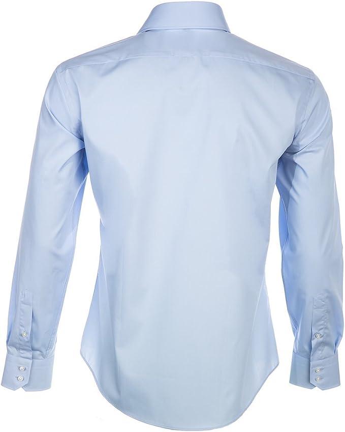 Hugo Boss New Mens formal azul Regular Fit camisa de traje ...
