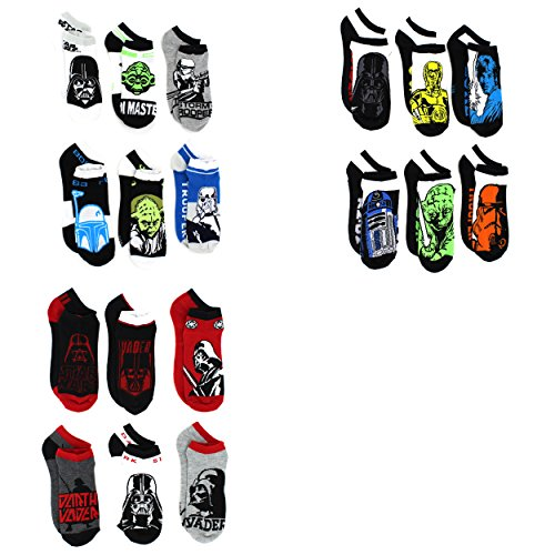 Star Wars Boys Mens 6 pack Socks (Toddler/Little Kid/Big Kid/Teen/Adult)