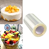 Clear Cake Collars Surrounding Edge Rolls, Birthday Cake Edge Moulds Transparent Wrapping Tape Perfect for Baking, Birthday Cake Cream and Chocolate Decorating Transparent Acetate Collar,10cm x 10m