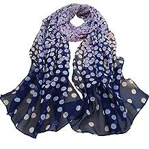 ABC Women's Beautiful Dot Long Soft Wrap Scarf Lady Silk Chiffon Scarf