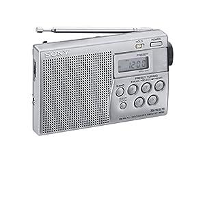 Sony ICF-M260 – Radio FM/AM Numérique Portable Compacte, Argent