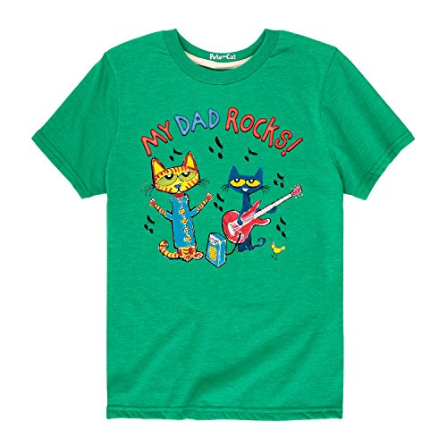 (Pete the Cat My Dad Rocks - Toddler Short Sleeve Tee Kelly Green)