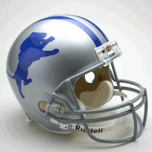 NFL Riddell Detroit Lions Silver 1962-1968 Throwback Replica Full-Size (1966 Detroit Lions)