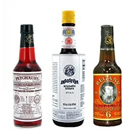"Bitters XL ""Triple Play"" Variety 3-Pack: Angostura, Peychauds and Regans 2 Great Variety Pack ""Must Have"" for any cocktail geek Angostura (16 oz)"