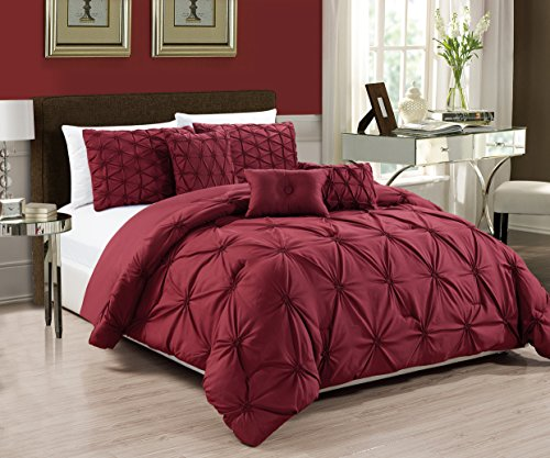 RT Designers Collection Cosmo 6-Piece Comforter Set, King, Burgundy by RT Designers Collection